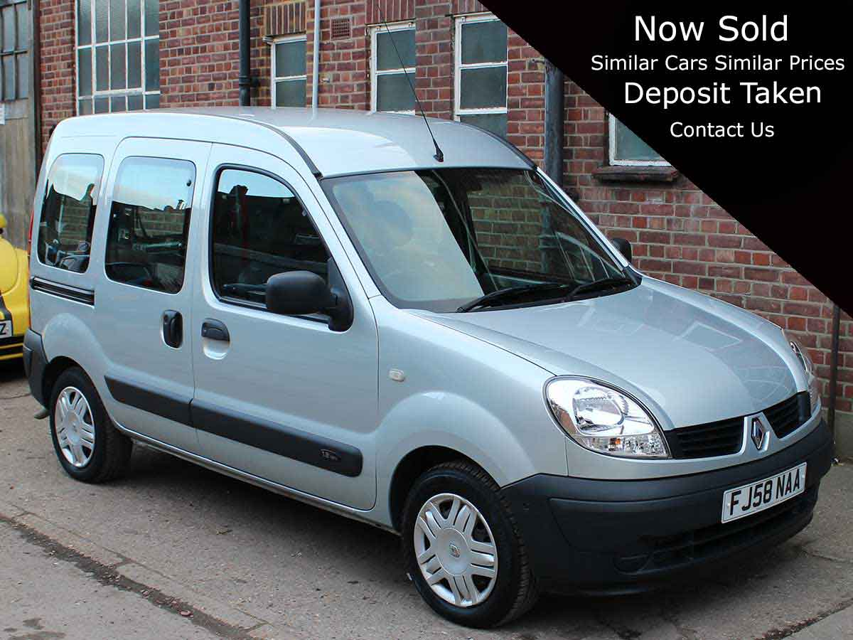 2009 Renault Kangoo Estate 1.2 Authentique 5dr Disabled Wheelchair Adapted 26,000 miles FJ58NAA