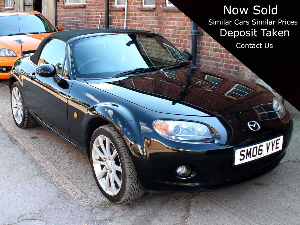 2006 Mazda MX5 Sport Manual 6 Speed Black Leather Alloys Good Condition SM06VYE