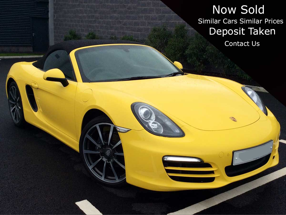 "2013 Porsche Boxster 981 24v Pdk Semi-Auto Petrol 2dr Roadster 1 Owner - 20"" Turbo Alloys - Park Assist"