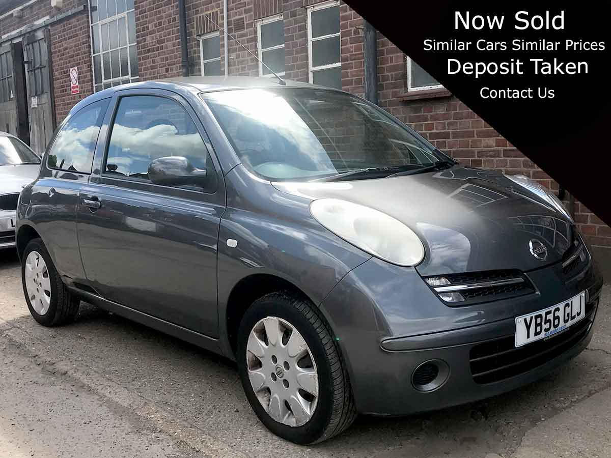 2007 Nissan Micra 1.2 16v Spirita Grey 3dr Automatic Air Con 2 Owners 49,000 Miles FSH YB56GLJ
