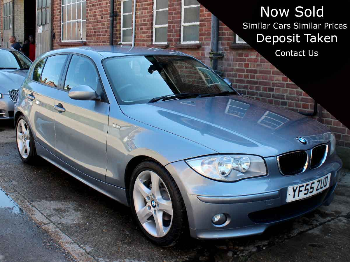 2006 BMW 1 Series 118i Automatic 2.0 Sport Blue 5 Door Alloys Climate Petrol 59,000 Excellent Condition YF55ZUD