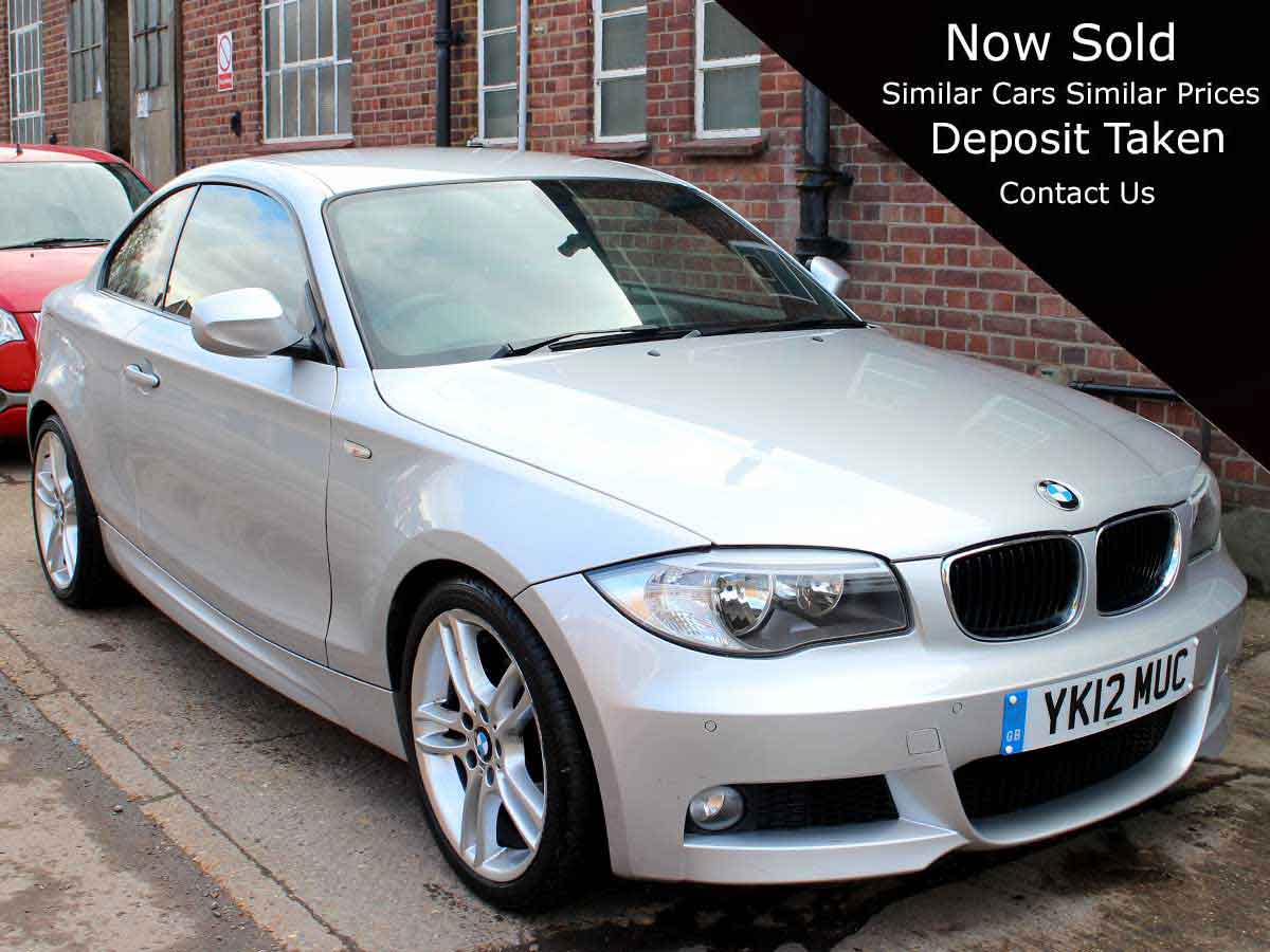 2012 BMW 125i M Sport 2dr Coupe Silver Manual 1 Owner High Spec 37,200 miles Full Service History YK12MUC